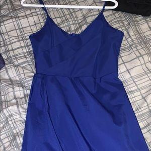 Dresses - Blue maxi dress with slit